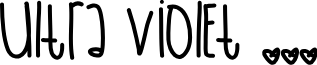 UltraViolet font