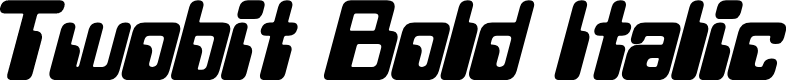 Preview image for Twobit Bold Italic