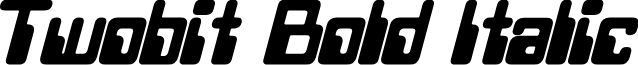Twobit Bold Italic