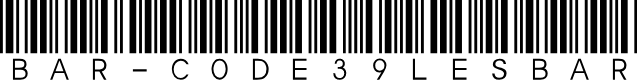 Preview image for Bar-Code 39 lesbar
