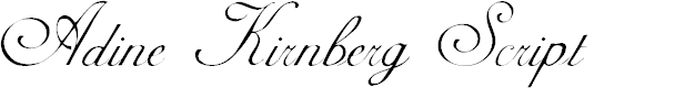 Preview image for AdineKirnberg-Script Font
