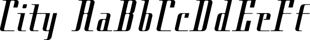 Preview image for Cityregular Font