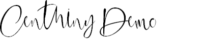 Preview image for Centhinydemo Font