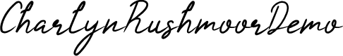 Preview image for CharlynRushmoorDemo Font