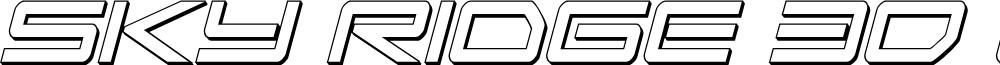 Sky Ridge 3D Condensed Italic