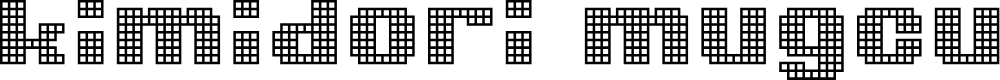 Preview image for kimidori mugcup Font