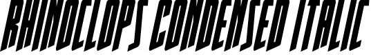 Preview image for Rhinoclops Condensed Italic