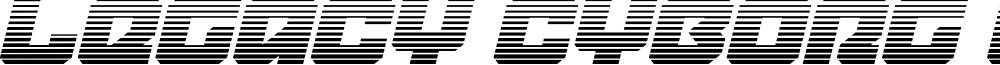 Legacy Cyborg Gradient Italic