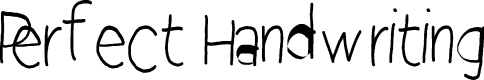 Preview image for Perfect Handwriting Font