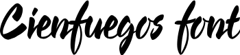 Preview image for Cienfuegos Font