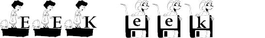 Preview image for EEK!_KG Font