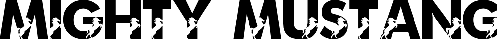 Preview image for LMS Mighty Mustang Font