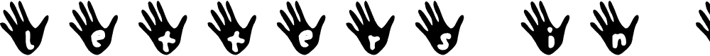 Preview image for letters in the hands Regular Fonty Font