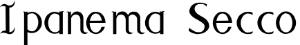 Ipanema Secco  font
