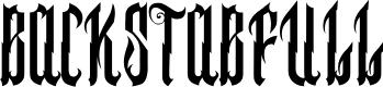 Preview image for BACKSTABFULL Font