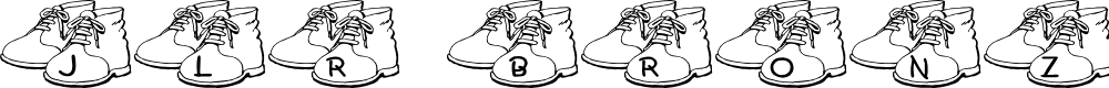 Preview image for JLR Bronzed Shoes Font