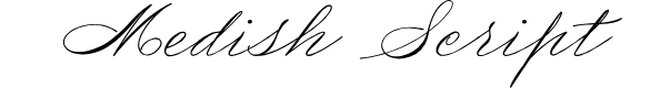 Preview image for Medish Script PERSONAL USE ONLY Font