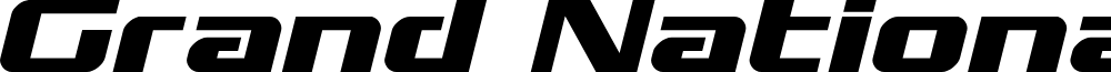 Grand National Expanded Italic