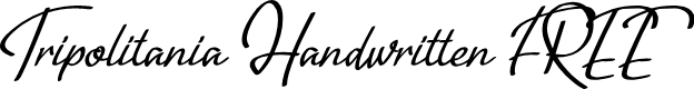 Preview image for Tripolitania Handwritten (FREE) Font