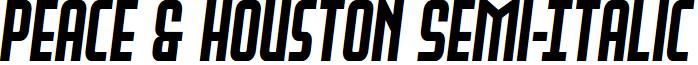 Peace & Houston Semi-Italic