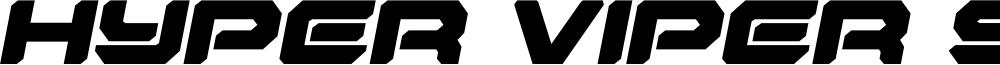 Hyper Viper Semi-Italic
