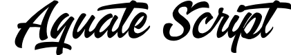 Preview image for Aquate Script PERSONAL USE ONLY Font
