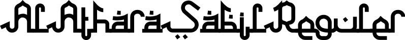 Preview image for AlAtharaSabilReguler Font