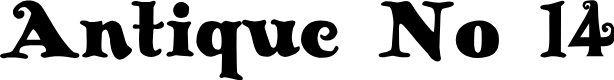 Preview image for Antique No 14 Regular Font