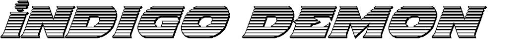 Preview image for Indigo Demon Chrome Italic