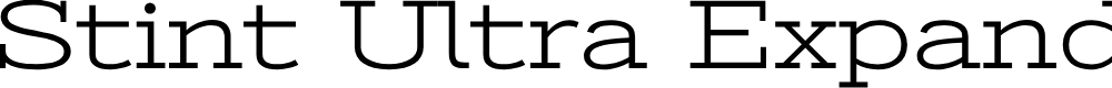 Preview image for Stint Ultra Expanded Font