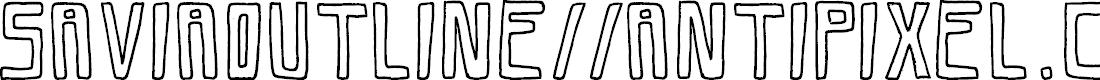 Preview image for SaviaOutline//ANTIPIXEL.COM.AR Font