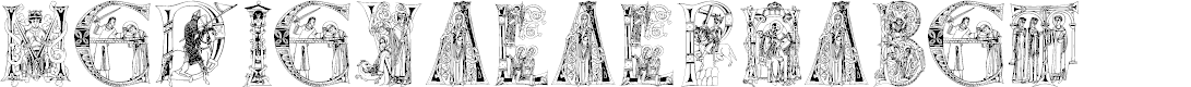 Preview image for MedievalAlphabet Font