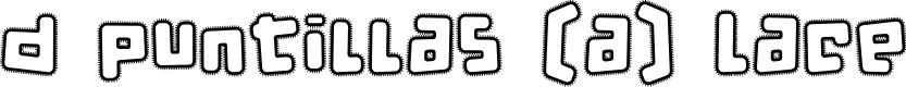 Preview image for d puntillas [a] Lace Font