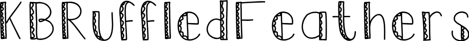 Preview image for KBRuffledFeathers Font