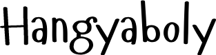 Preview image for Hangyaboly Font