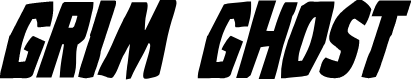 Preview image for Grim Ghost Bold Italic