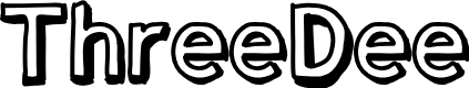 Preview image for ThreeDee Font