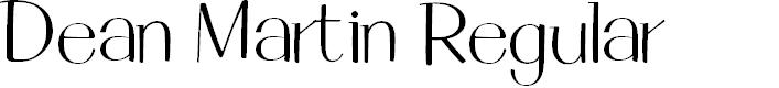 Preview image for Dean Martin Regular Font