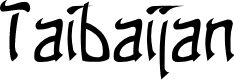 Preview image for Taibaijan Font