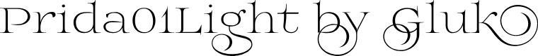 Preview image for Prida01Light Font