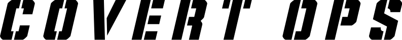 Preview image for Covert Ops Title Italic
