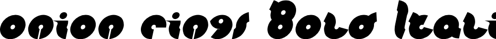 Preview image for onion rings Bold Italic