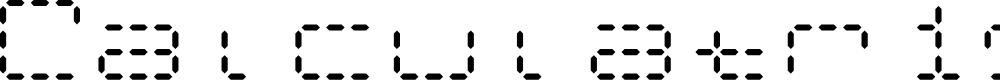 Preview image for Calculatrix 24 Regular Font