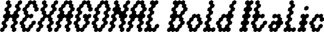 HEXAGONAL Bold Italic
