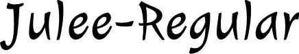 Preview image for Julee-Regular Font