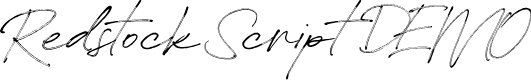Preview image for Redstock Script DEMO Font