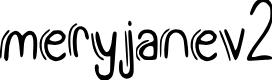 Preview image for meryjane_v2 Font