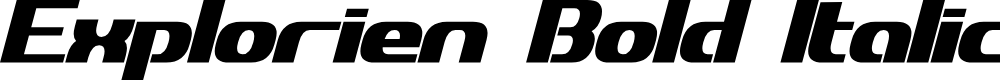 Preview image for Explorien Bold Italic