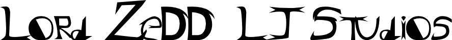 Preview image for Lord ZeDD - LJ Studios Font