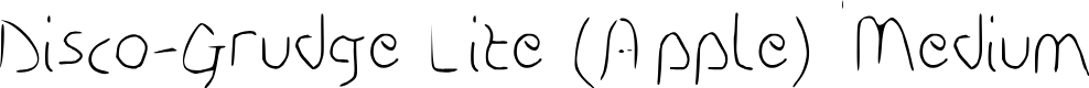 Preview image for Disco-Grudge Lite (Apple) Medium Font